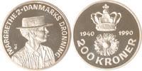 Dänemark 200 Kroner Dänemark, 200 Kroner, Geburtstag von Margrethe II., 1990, PP