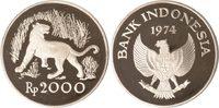 Indonesien 2000 Rupiah Indonesien, 2000 Rupiah, Jawanischer Tiger, 1974, PP