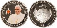 Palau 1 Dollar Palau, 1 Dollar, Benedikt XVI., 2009, PP