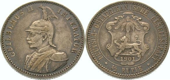 Deutsch Ostafrika 1/2 Rupie 1901