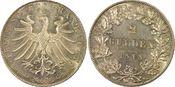 PCGS certified 2 Gulden 1848 Frankfurt, St...