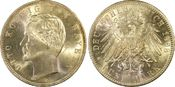 PCGS certified 5 Mark 1898  D Bayern Otto ...