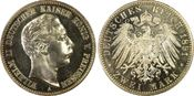 PCGS certified 2 Mark 1891  A Preußen Wilh...