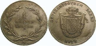 Kronentaler 1813 D Baden-Durlach Karl Ludw...
