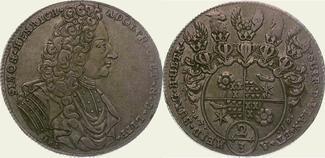 2/3 Taler 1719 Lippe-Detmold Simon Heinric...