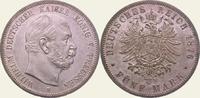5 Mark 1876  B Preußen Wilhelm I. 1861-1888. Vorzüglich - Stempelglanz  550,00 EUR  + 5,00 EUR frais d'envoi