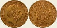 20 Mark Gold 1876  E Sachsen Albert 1873-1902. Vorzüglich +  575,00 EUR  + 5,00 EUR frais d'envoi