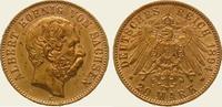 20 Mark Gold 1894  E Sachsen Albert 1873-1902. Vorzüglich  445,00 EUR  + 5,00 EUR frais d'envoi