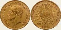20 Mark Gold 1873  E Sachsen Johann 1854-1873. Vorzüglich - Stempelglanz  750,00 EUR  + 5,00 EUR frais d'envoi