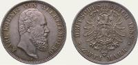2 Mark 1888  F Württemberg Karl 1864-1891. Schöne Patina. Winz. Randfeh... 1150,00 EUR  + 5,00 EUR frais d'envoi