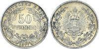 50 Pfennig 1877  C Kleinmünzen  Prachtexemplar. Unbedeutender Randfehle... 250,00 EUR  + 5,00 EUR frais d'envoi