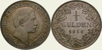 1/2 Gulden 1856 Baden-Durlach Friedrich I. 1852-1907. Fein getönt. Vorz... 225,00 EUR  + 5,00 EUR frais d'envoi
