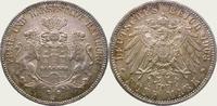 5 Mark 1908  J Hamburg  Feine Tönung. Fast Stempelglanz  350,00 EUR  + 5,00 EUR frais d'envoi