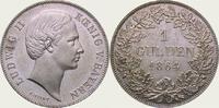 Gulden 1864 Bayern Ludwig II. 1864-1886. Fast Stempelglanz  325,00 EUR  + 5,00 EUR frais d'envoi