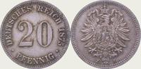 20 Pfennig 1875  J Kleinmünzen  Vorzüglich  20,00 EUR  + 5,00 EUR frais d'envoi