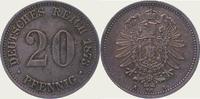 20 Pfennig 1873  A Kleinmünzen  Schöne Patina. Vorzüglich - Stempelglan... 65,00 EUR  + 5,00 EUR frais d'envoi