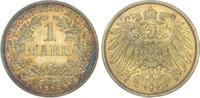 1 Mark 1913  J Kleinmünzen  Schöne Patina. Vorzüglich - Stempelglanz  95,00 EUR  + 5,00 EUR frais d'envoi