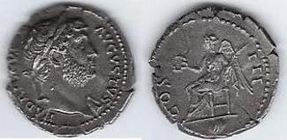 DENIER (ROME 128) ROME ANTIQUE DENIER D'HA...