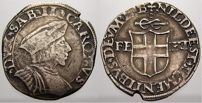 Carlo Ii 1504-1553 Italien-savoia Testone