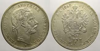 1/4 Gulden 1868  A Haus Habsburg Franz Jos...