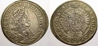 15 Kreuzer 1664 Haus Habsburg Leopold I. 1...