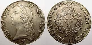 Ecu au bandeau 1769  L Frankreich Ludwig X...