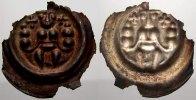 Saalfeld, Königliche Münzstätte Brakteat Friedrich II 1215-1250, unter Pfandschaft der Grafen von Schwarzburg.