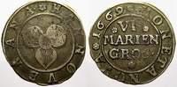 6 Mariengroschen 1669 Hannover, Stadt  Selten. Sehr schön  15622 руб 175,00 EUR
