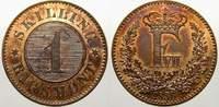 1 Skilling rigsmont 1856 Dänemark Frederik VII. 1848-1863. Stempelglanz... 1339 руб 15,00 EUR