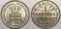 1 Kreuzer 1864 Württemberg Wilhelm I. 1816-1864. Stempelglanz  2678 руб 30,00 EUR