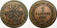 Cu Baiocco 1851  R Italien-Kirchenstaat Pius IX. 1846-1878. Min. Schröt... 3124 руб 35,00 EUR