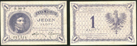 1 Zloty 28.2.1919 Polen Republik Polen 1919-1939. I-  13390 руб 150,00 EUR