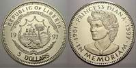 5 Dollars 1997 Liberia Liberia Republik seit 1847. Polierte Platte  536 руб 6,00 EUR