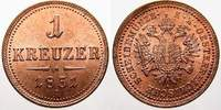 Cu 1 Kreuzer 1851  A Haus Habsburg Franz Joseph I. 1848-1916. Feinste s... 3571 руб 40,00 EUR