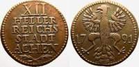 Cu 12 Heller 1791 Aachen Städtische Prägungen. Fast vorzüglich  2232 руб 25,00 EUR