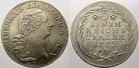 1/3 Taler 1772  A Brandenburg-Preußen Friedrich II. 1740-1786. Vorzügli... 13143 руб 175,00 EUR  +  751 руб shipping