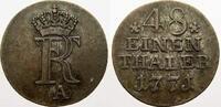 1/48 Taler 1771  A Brandenburg-Preußen Friedrich II. 1740-1786. Sehr sc... 1502 руб 20,00 EUR  +  751 руб shipping