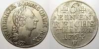 1/6 Taler 1764  F Brandenburg-Preußen Friedrich II. 1740-1786. Kl. Zain... 3670 руб 50,00 EUR  +  734 руб shipping