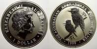 1 Dollar (Kookaburra) 1999 Australien Elizabeth II. seit 1952. Stempelg... 40,00 EUR  zzgl. 5,00 EUR Versand