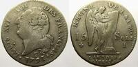 15 Sols, type 'FRANCOIS' 1791  I Frankreich Ludwig XVI. 1774-1793. Sehr... 5386 руб 75,00 EUR  +  718 руб shipping