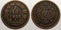 Cu 5/10 Kreuzer 1858  A Haus Habsburg Franz Joseph I. 1848-1916. Sehr s... 363 руб 5,00 EUR  +  726 руб shipping