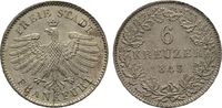 Hessen 6 Kreuzer 1845. Vorzüglich  60,00 EUR  zzgl. 4,50 EUR Versand