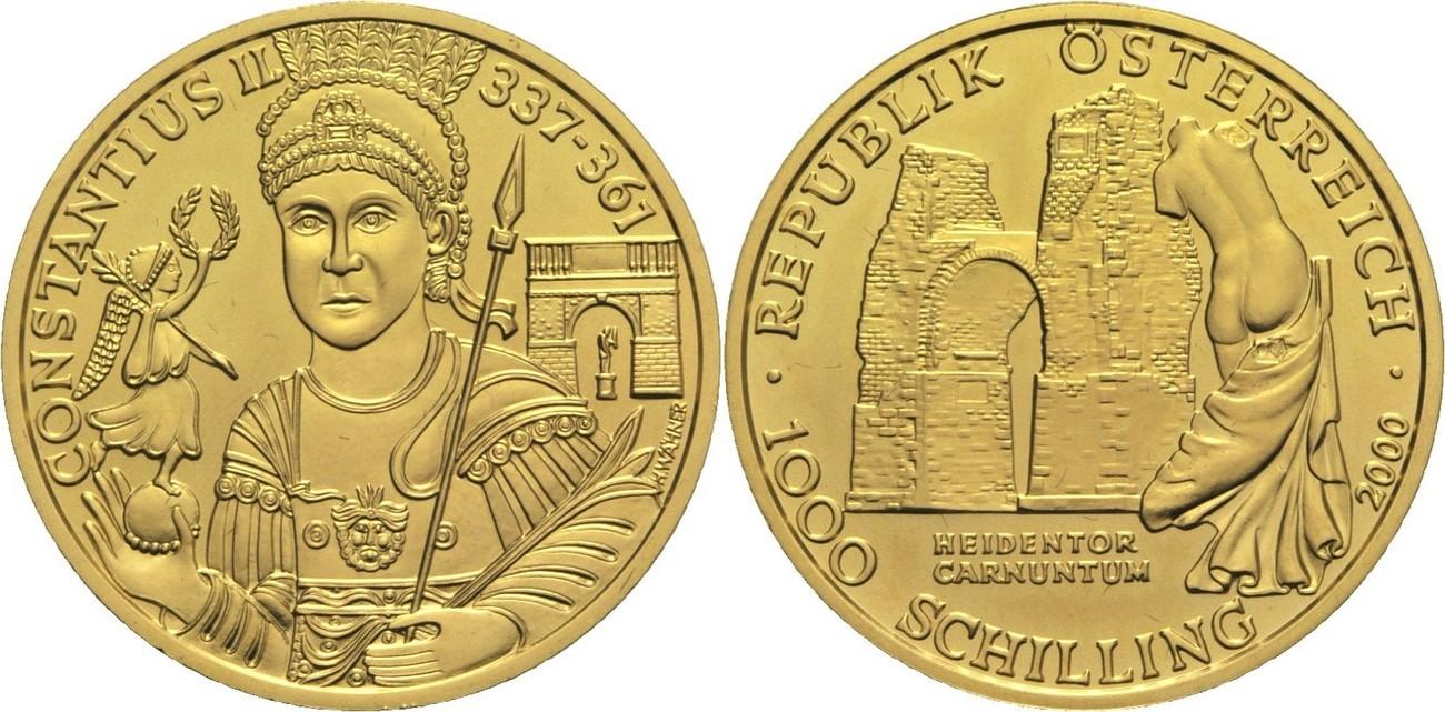 Ii Republik Österreich 1000 Schilling 2000 Gold
