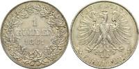 Gulden 1861 Frankfurt am Main Freie Stadt 1815-1866 Kl. Rf., ss+  130,00 EUR  zzgl. 6,90 EUR Versand