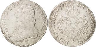 Ecu 1779 I Frankreich Louis XVI, Écu aux b...