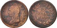 Decime 1796 W Frankreich Dupré VF(20-25)  60,00 EUR