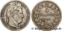 5 francs IIe type Domard 1839  LOUIS-PHILIPPE I 1839 (37mm, 24,75g, 6h ... 380,00 EUR