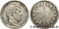 5 francs Ier type Domard, tranche en creux 1831  LOUIS-PHILIPPE I 1831 ... 190,00 EUR