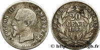 20 centimes Napoléon III, tête nue 1863  SECOND EMPIRE 1863 (15mm, 0,93... 290,00 EUR