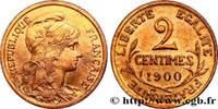 2 centimes Daniel-Dupuis 1900  III REPUBLIC 1900 (20,13mm, 2,03g, 6h ) VZ  430,00 EUR